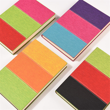 A5 Diary Notebook Kawaii Leather Rainbow Journal Planner Notepad 120 Sheets Simple Line Paper Diary Book