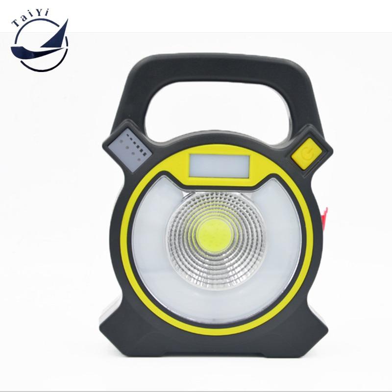 TAIYI Leistungsstarke COB LED tragbare Arbeitslampe 4 Modi Arbeitslicht Camping Laterne Leistung von 2 * 18650 Batterie mit USB wiederaufladbar