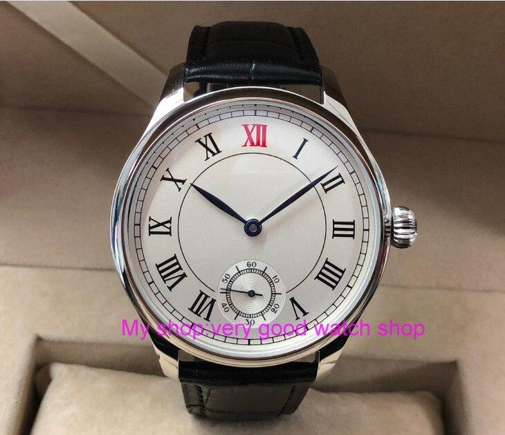 Здесь можно купить  44mm parnis white dial Asian 6498 17 jewels Mechanical Hand Wind movement men