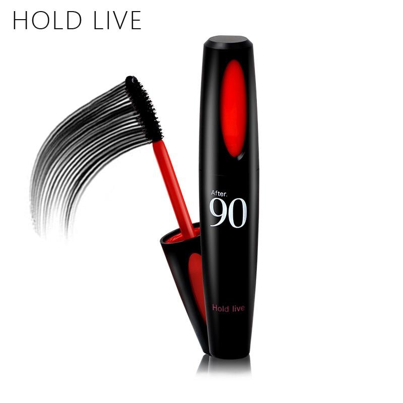 HOLDLIVE 3D Fiber Lashes Mascara Volume Waterproof Thick Curling Lengthening Black Color Brand Makeup Cosmetic Eye Mascara Brown