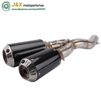 SCRAMBLER Motorcycle Slip On Motorcycle Exhaust full system middle pipe Muffler for DUCATI SCRAMBLER