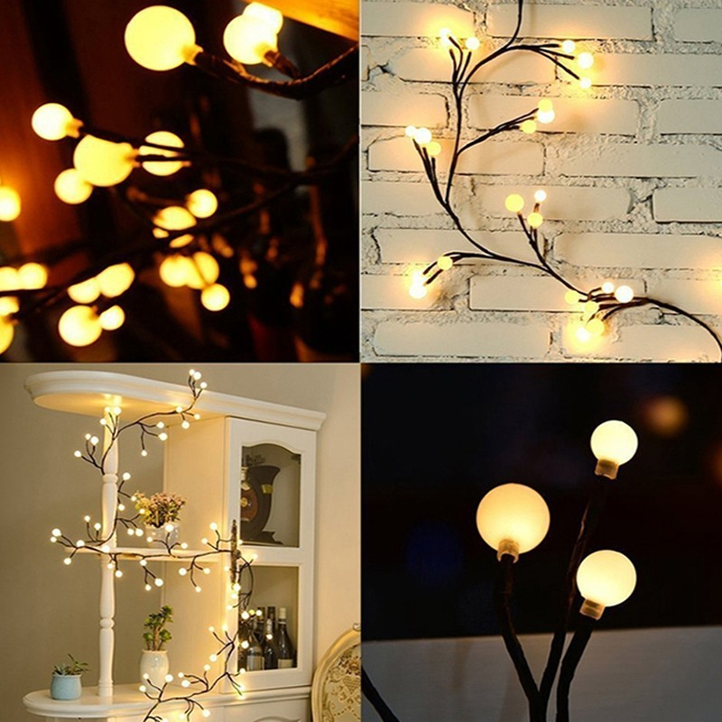2.5M 72LED Rattan branches led string light Waterproof Holiday light Outdoor Fairy Lights For Christmas Party Wedding Decoration