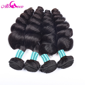 Image 5 - Ali Coco Malaysian Loose Wave 3 Bundles With Closure 100% Human Hair Weave Bundles with Baby Hair Closure Non Remy Hair