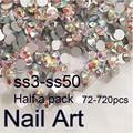 Полпачки SS3-SS50 Кристл AB Nail Art Стразы С Круглый Flatback Для Ногтей Украшения Сотовый Телефон Одежда И Сумки
