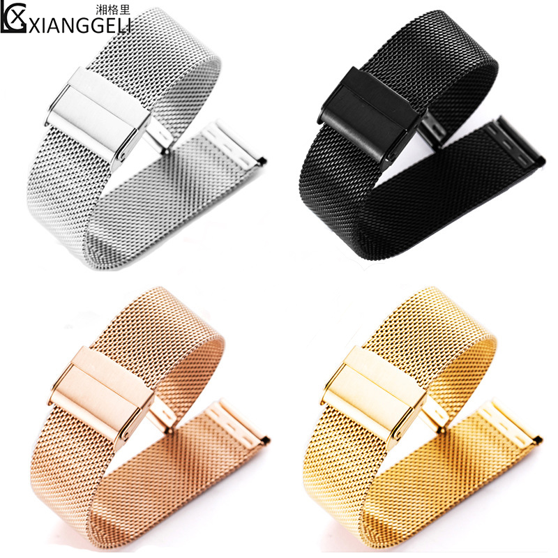 Watch Accessories 12mm14mm Stainless Steel Strap DW Milan Nice Weave mesh band fit Men & Women 304 Stainless Steel Watch Bands