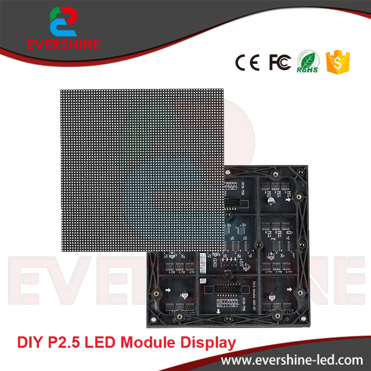 Free Shipping DIY 12PCS P2.5 Indoor SMD Full Color LED Module + 5PCS 5V 200W Power Supply Display Screen cotton baby rompers infant toddler jumpsuit lace collar short sleeve baby girl clothing newborn bebe overall clothes h3