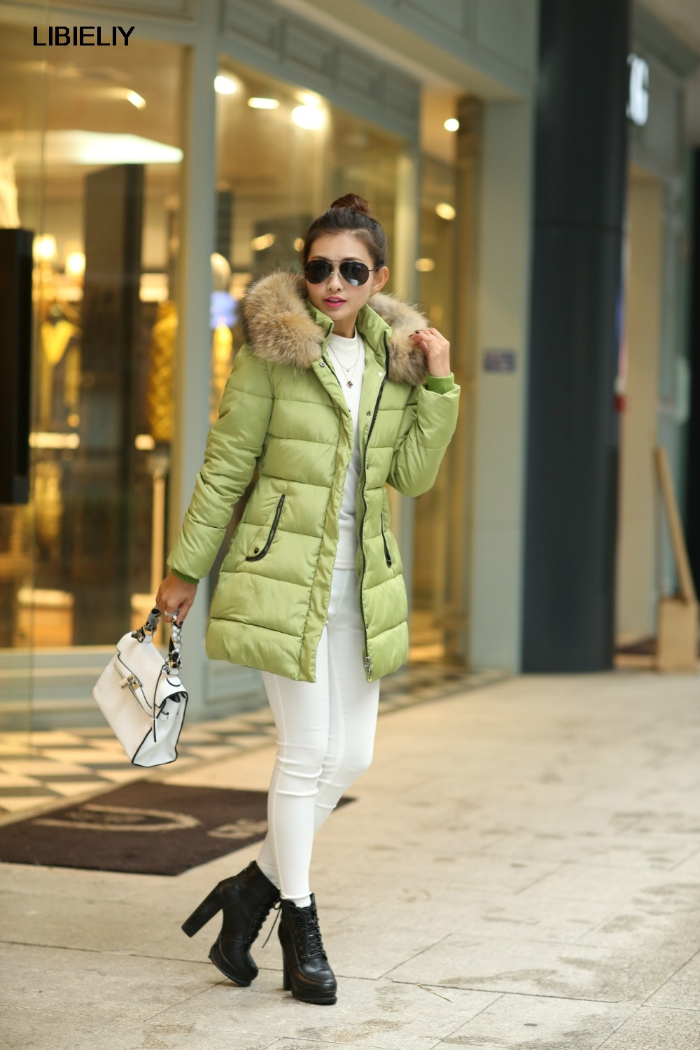 Nice Fashion Coat Women Winter Jacket Parkas Casual Outwear Military Hooded Fur Coats Manteau Femme Woman Clothes 4 Color WD1188 indjxnd winter woman jacket women parkas casual clothing thick outwear hooded coat imitation femme fox fur coats manteau loose