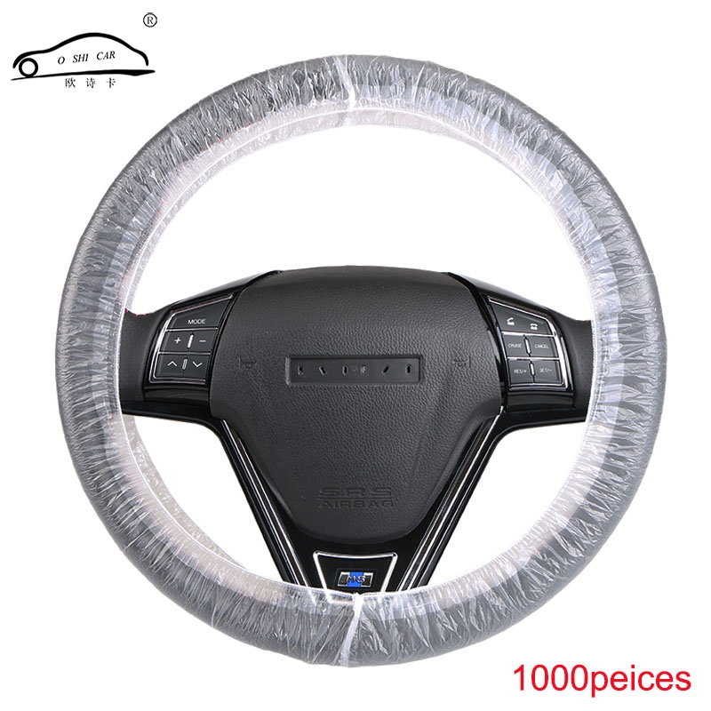 OshiCar® 1000pcs//lot Universal Plastic Disposable Plastic Steering Wheel Cover