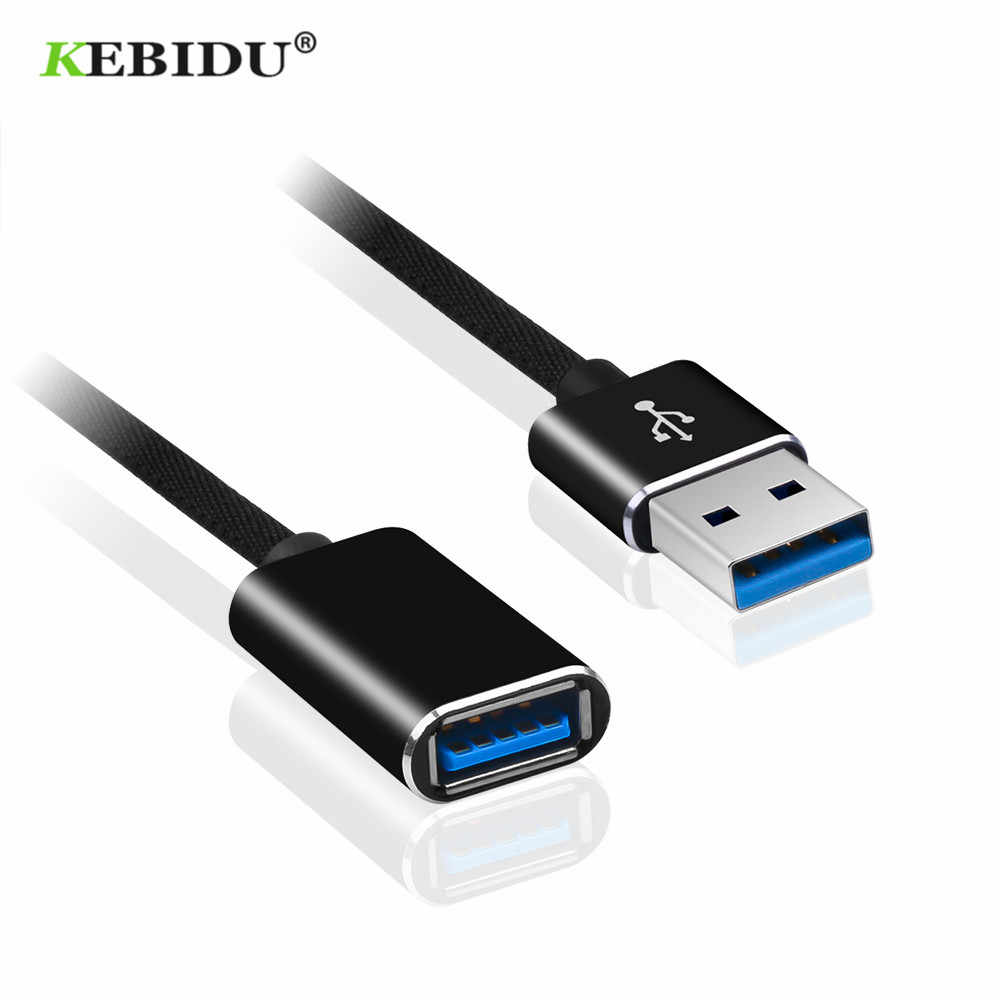 Kebidu 1M Usb Verlengkabel Super Speed Usb 2.0 Extender Kabel Cord USB2.0 Extender Draad Voor Pc Computer Printer usb Kabel