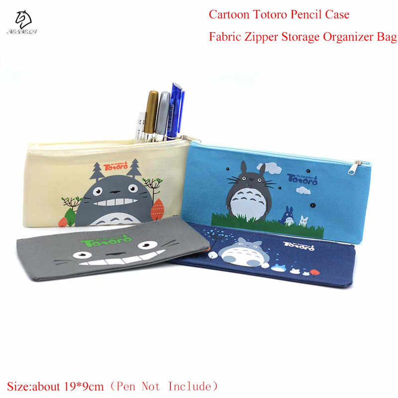 Trendy Kawaii Totoro Pencil Case multifunction Fabric Cosmetic Bags Zipper Pencil Holder Bag Gift Stationery School Supply