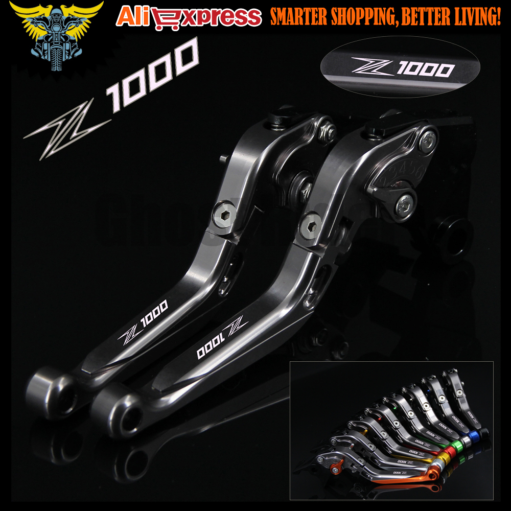 Laser NEW Logo(Z1000) Motorcycle Full Titanium Color CNC Adjustable Brake Clutch Levers For kawasaki Z1000 2003 2004 2005 2006