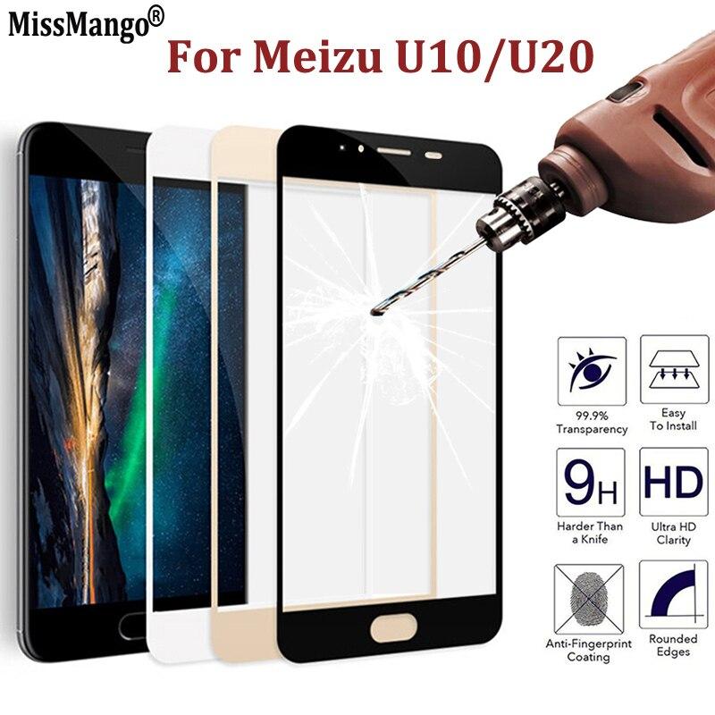 For Meizu U10 U 10 Tempered Glass For Meizu U20 U 20 Film 9 H 3D Curved Full Cover Screen Protector For Meizu U10 U20 Film Case