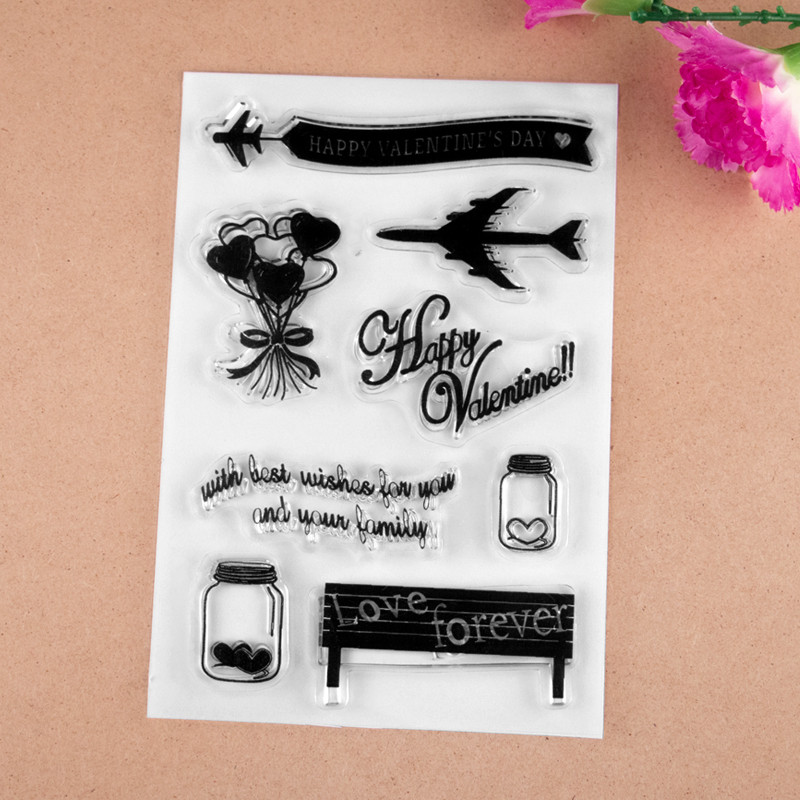 2017 new 10X15cm love forever Scrapbook DIY Photo Album Account Transparent Silicone Rubber Clear Stamps