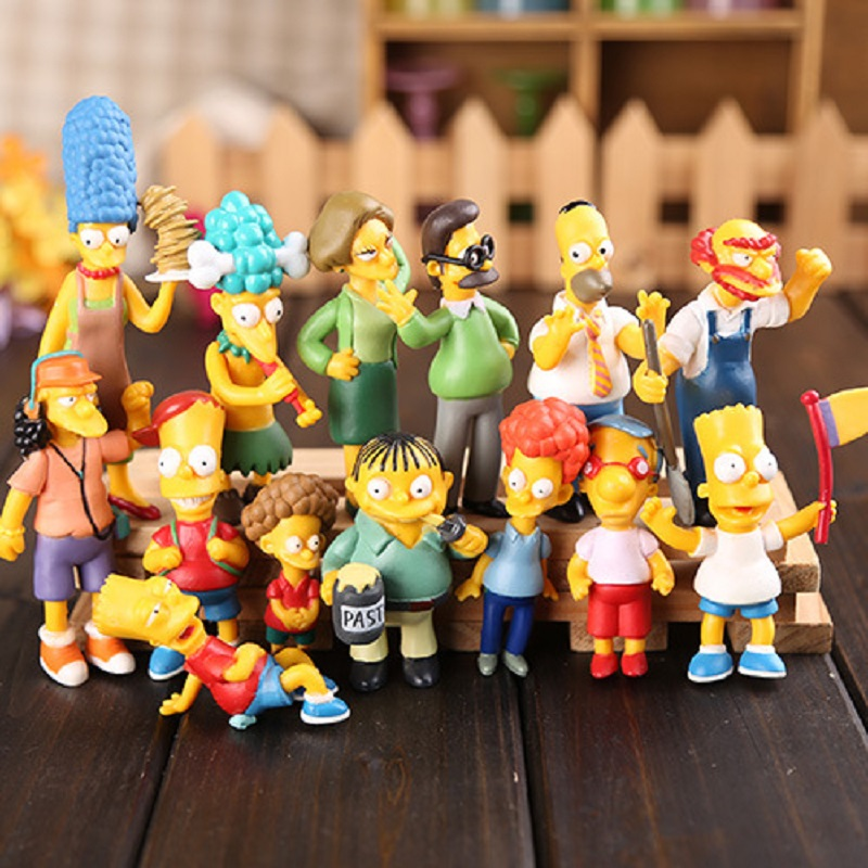 14pcs/Set Simpsons Action Figures Toys PVC 6-12CM Collectors Home Car Office Decoration Gift