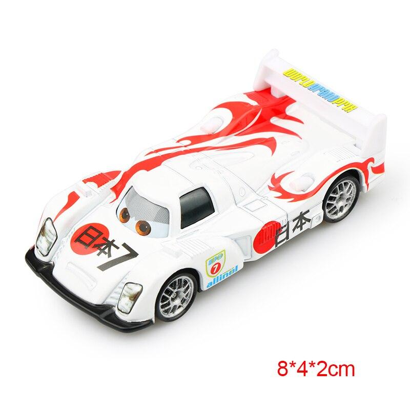 Дисней Pixar Тачки 2 3 Молния Маккуин матер Джексон шторм Рамирез 1:55 литье под давлением автомобиль металлический сплав мальчик малыш игрушки Рождественский подарок - Цвет: Japan