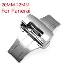 20 mm 22 mm papillon Double déployante en acier, 316 montre en acier inoxydable boucle déployante fermoir pour PAM avec Logo Original