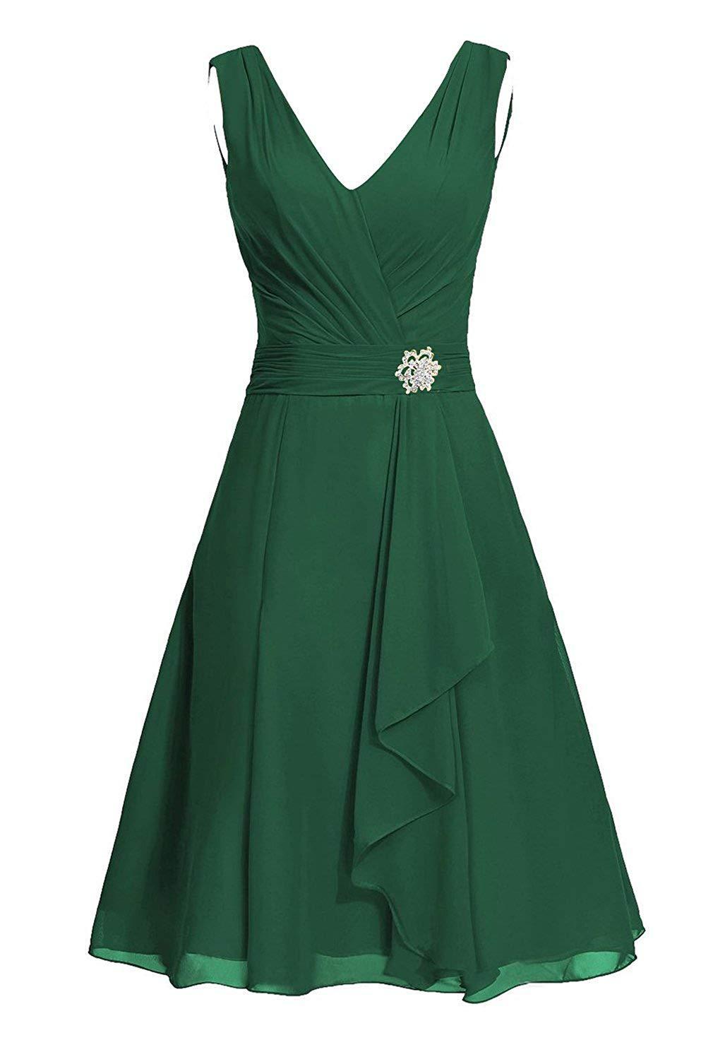 Short Elegant Hot Chiffon V-Neck Crystals Beaded   Cocktail     Dresses   Short Homecoming   Dress   Formal Gown Ilbies tal-koktejl