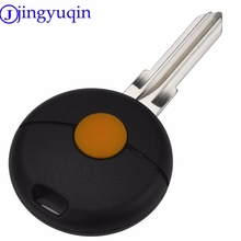 jingyuqin 10ps 1 Button Remote Car Key Shell For Benz Smart Fortwo Cabrio City Crossblade 1998-2012 Replacement Fob Case Cover(China)