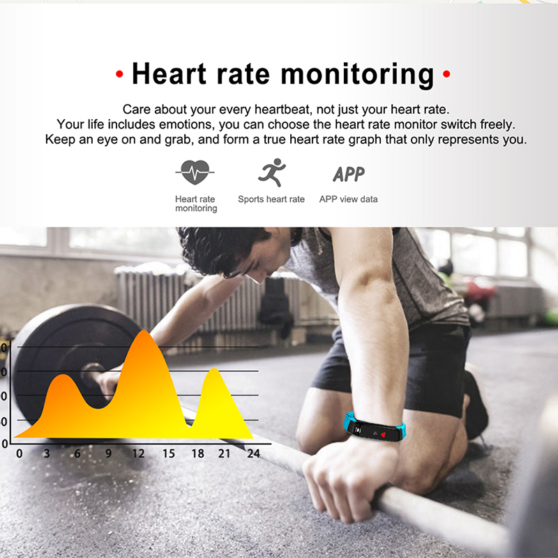 LIGE 2019 New Fitness tracker waterproof Smart bracelet men Women Heart Rate Monitor Sports Mode smart Watch For Android IOS in Smart Wristbands from Consumer Electronics