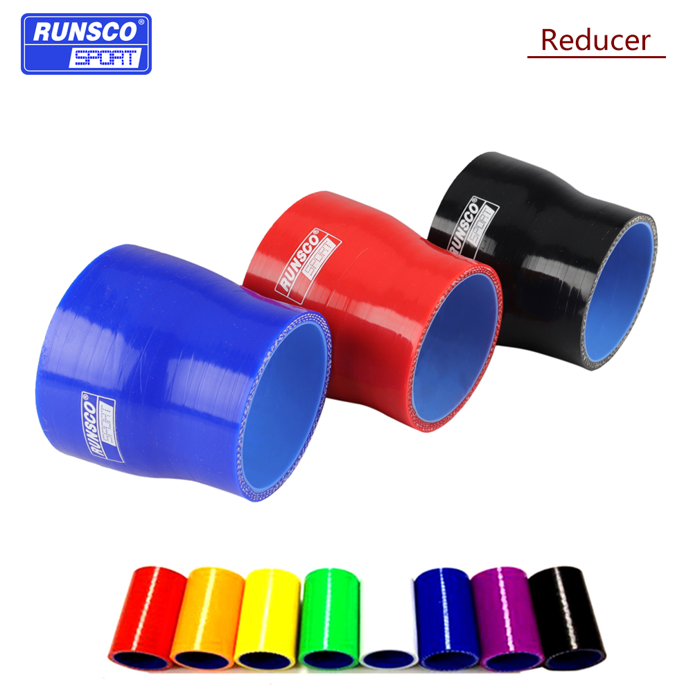 "RED 2.5/""-3/"" AIR INTAKE//PIPING RUBBER REDUCER COUPLER FOR TOYOTA"
