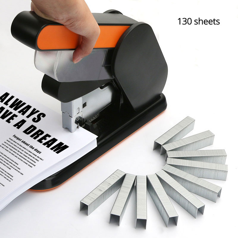 130 Sheets Large Heavy Thickened Stapler Thick Jumbo Thickening Labor-Saving Heavy Duty Stapler Staples 23/X Office Supplie comix durable 50 page 12 stapler w staples blue 3 pcs