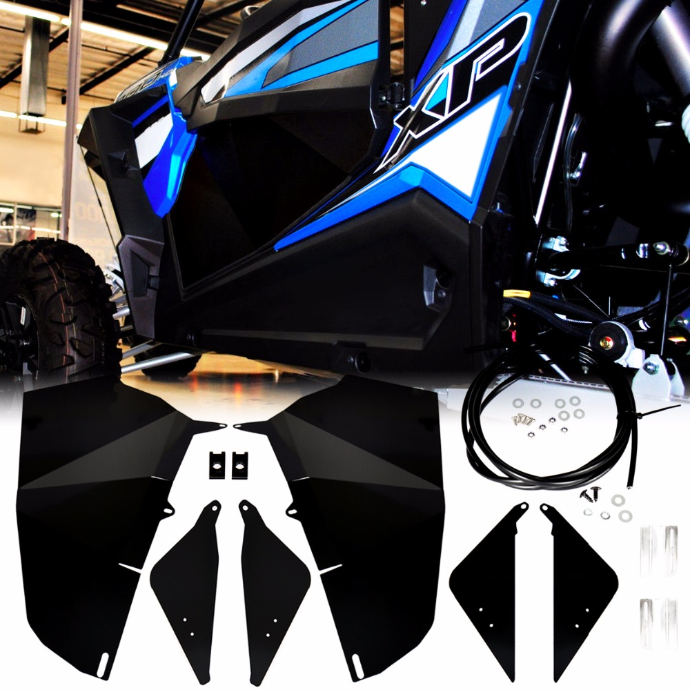 Black 60 Wide Lower Door Panel Inserts For UTV 2015 2016 2017 2018 RZR-S 900 XP S 1000 Models