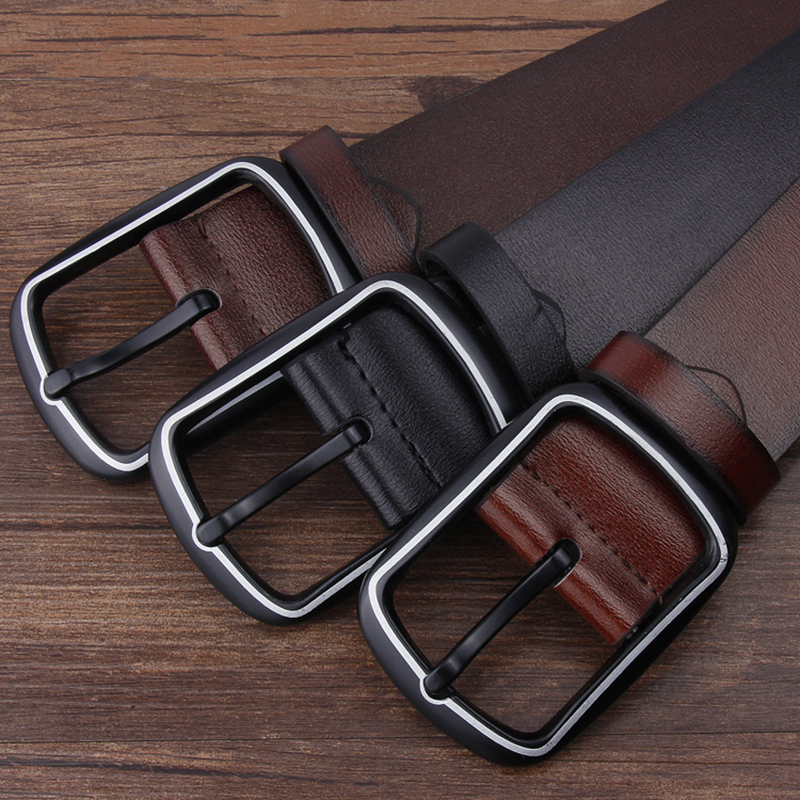Men Belt High Quality Leather Belt For Men Classic Alloy Pin Buckle Punk Style Waist Belts Wild West Cowboy Waistbrand Strap