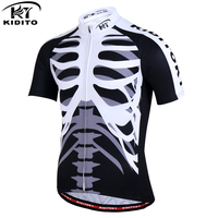KIDITOKT Shamus Racing Cycling Jersey Bike Uniform Cycle Shirt Maillot Rock Bicycle Wear MTB Cycling Clothing
