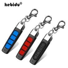 Kebidu garaj kapısı kapı uzaktan kumandası 433MHZ otomatik çift kopya uzaktan 4 anahtar düğmeler garaj kapısı açacağı uzaktan kumanda teksir
