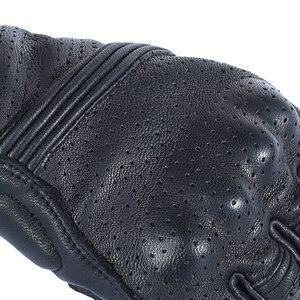 Image 5 - Nuoxintr oddychające rękawice motocyklowe skóra pełna osłona palca rękawice motocrossowe Downhill jazda na rowerze rękawice wyścigowe