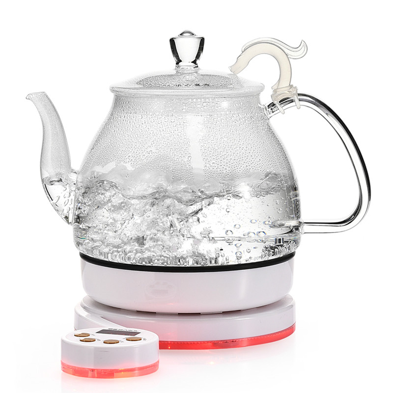 Glass electric kettle black tea boiling ware set Safety Auto-Off Function health raising pot fully automatic thickened glass multi function tea ware mini body electric heating kettle ware
