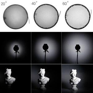 Image 5 - 7 inç 18cm standart reflektör difüzör için petek izgara ile evrensel montaj stüdyo ışığı Strobe flaş K 150A K 180A E250 E300