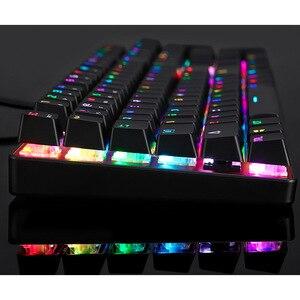 Image 5 - Механическая клавиатура MOTOSPEED CK104 для игр, русская/английская клавиатура для геймеров, синий/красный переключатель, металлические клавиши, светодиодная RGB подсветка