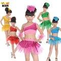 Seis uno niños traje del ballet América traje de falda niños bailan partido cheerleaders disfraces infantiles