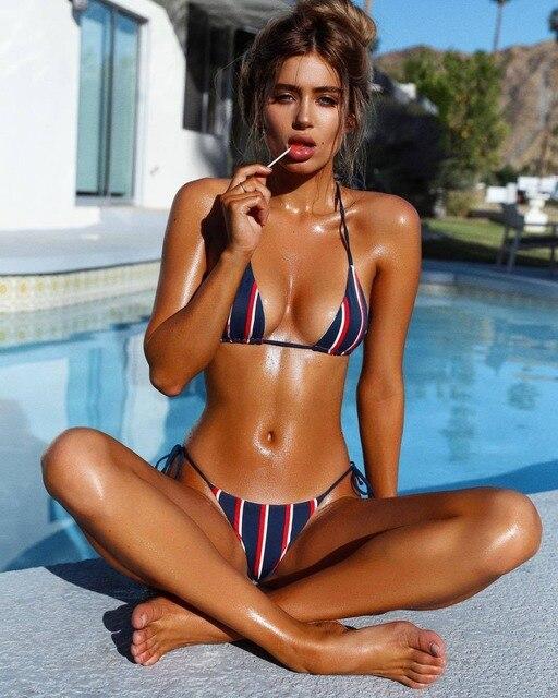 3b206f995389 2019 Sexy Brazilian Bikini Summer Beach Style Swimwear Women Swimsuit Maio  Moda praia Biquini Vintage Monokini