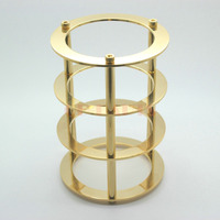 1PC 24K GOLD Brass CNC Machined Vacuum Tube Guard Protector Cover For 300B 2A3 845 805