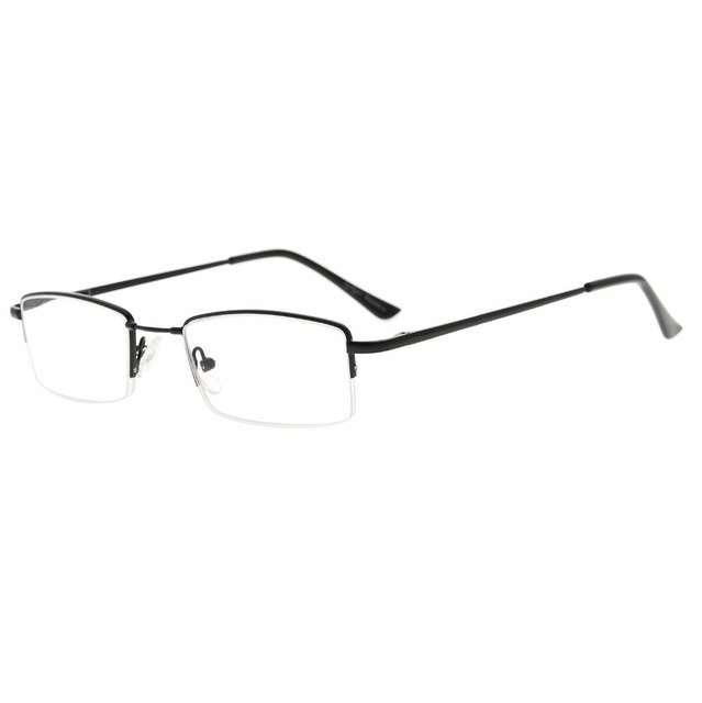 ae19897d1c R1708 Eyekepper Half-rim Reading Glasses With Flex Memory Titanium Bridge  Bendable For Men Women +0.50~+3.00