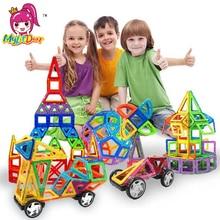 Купить с кэшбэком MylitDear Big Size Magnetic Designer 34Pcs Building Blocks 3D Construction Toy Kids Baby Educational Creative Bricks Toys