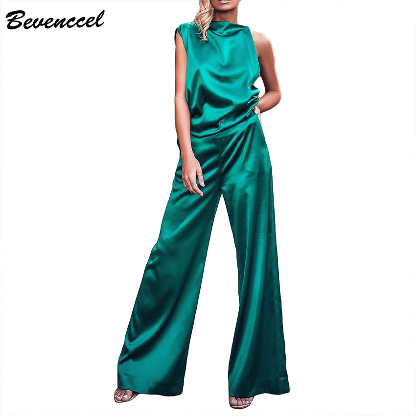 Bevenccel New Sexy Summer Two Piece Sets Women Jumpsuit 2019 Sleeveless O Neck Elegant Celebrity Party