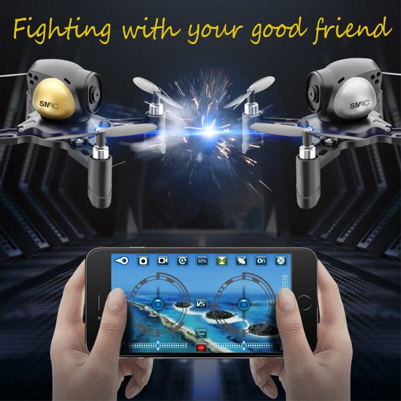2 pcs DIY drone avec wifi caméra de Combat Contrôlées 2 MP angle HD Drone G-capteur Bataille Quadcopter Cuirassé de Jeu garçon cadeau