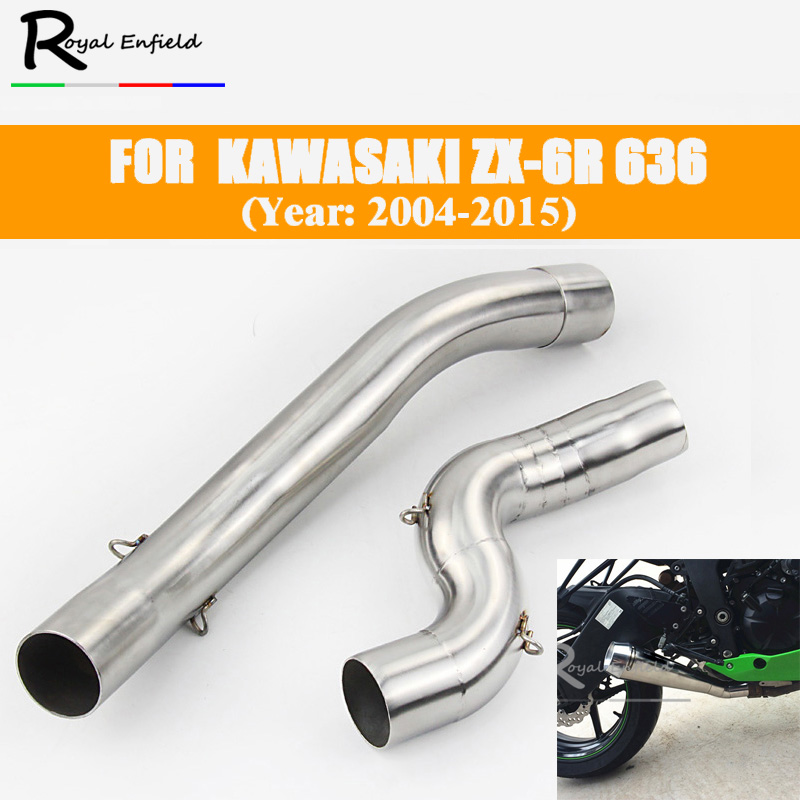 Pipe Zx6r Motorcycle Exhaust Kawasaki Muffler-Link 2008 for 2006 2009 2005 2007
