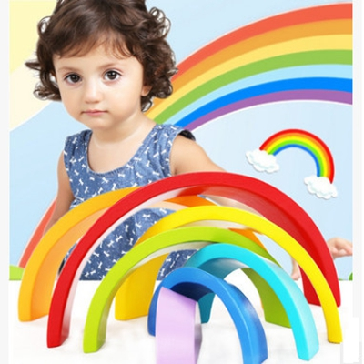 Children's wood rainbow arch building  stacked music game baby baby puzzle early childhood education 2-6 year old toy gift jennifer vannatta hall music teaching self efficacy in early childhood teacher education
