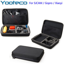 Pour gopro accessoires grand eva collection boîte grand cas sac pour sjcam sj4000 sj5000 hero 5 4 3 + 3 2 eken h9 h9r sport caméra