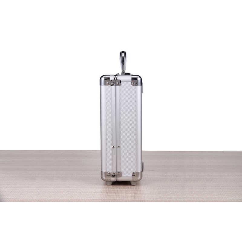 Toolbox Draagbare Aluminium Gereedschapskist Instrument Doos Veiligheid Storage Case Instrument Doos Koffer met Spons Voering 36x24x10 cm