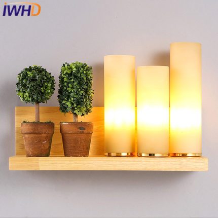 IWHD Wood LED Wall Light Modern 3 Heads Glass Wall Lamp Home Lighting Fixtures Bedroom Living Stair Sconce Lampara Pared battlefield 3 или modern warfare 3 что