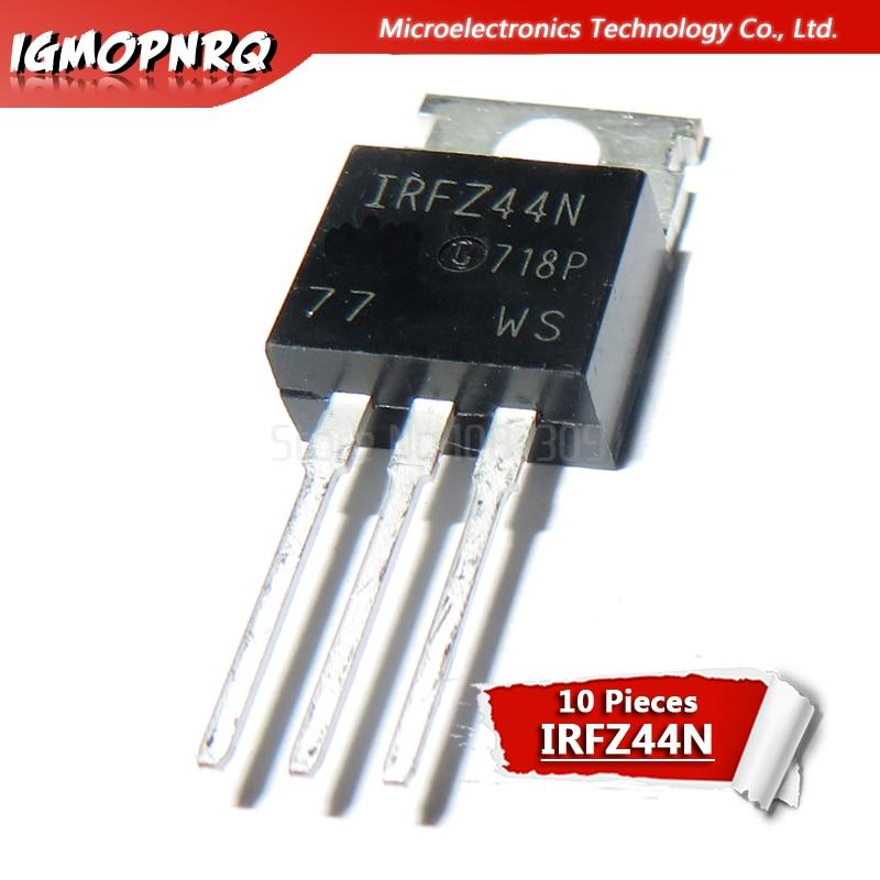 10pcs IRFZ44N IRFZ44 IRFZ44NPBF MOSFET MOSFT 55V 41A 17.5mOhm 42nC TO-220 New Original