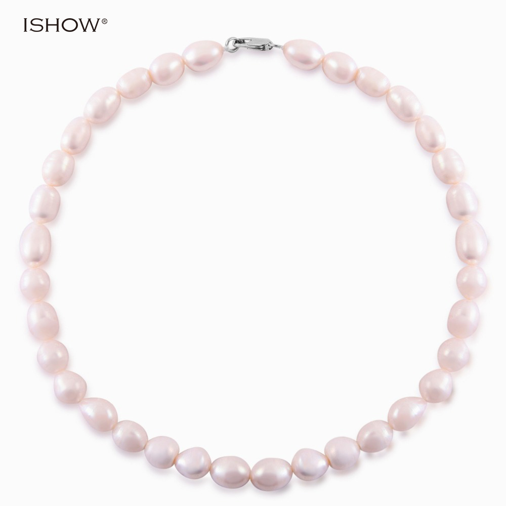 Irregular Natural Freshwater Pearl Necklace Women Fine Wedding Jewelry Handmade White Pearl Choker Neckalces Collares Mujer