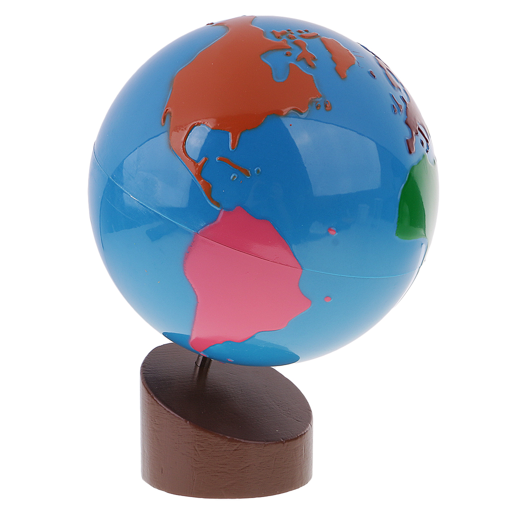 New Montessori Geography Material-Globe of World Parts Baby Early Learning Toys for Chil ...