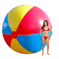 130cm Super Big Giant Inflatable PVC Beach Ball Colorful Swimming Pool Accessory Inflated Balls Summer Holiday Outdoor Water Fun