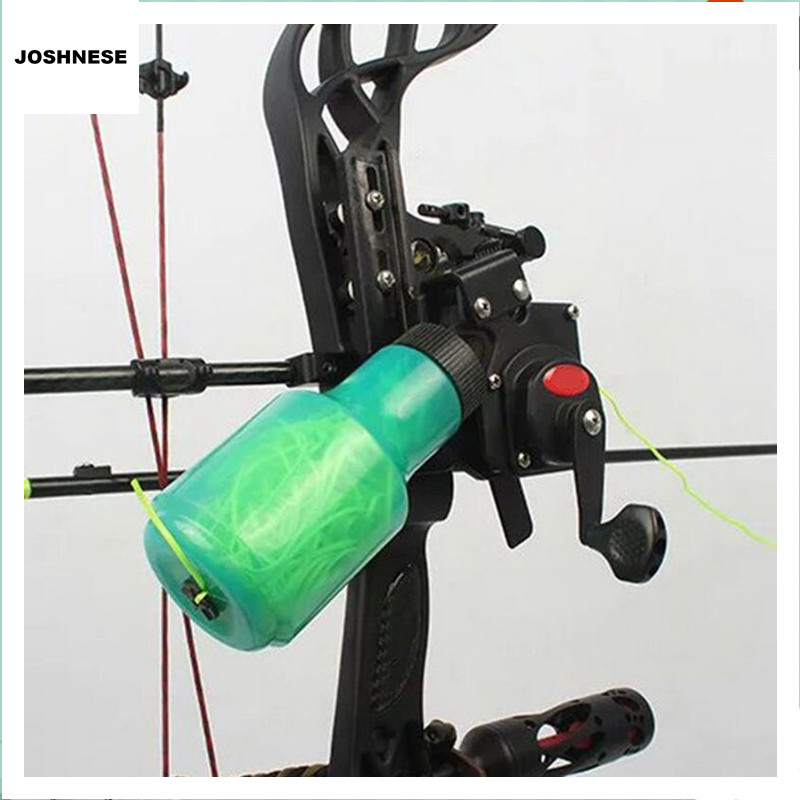 Ourpgone Outdoor Recurve Bow Fishing Spincast Reel For Compound Bow And Recurve Bow Shooting Tool Fish Hunting Bow Fishing  цены